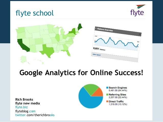 flyte school  Google Analytics for Online Success!Rich Brooksflyte new mediaflyte.bizflyteblog.comtwitter.com/therichbrooks