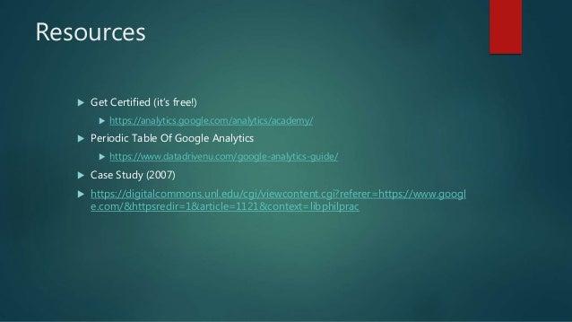 Google analytics and google data studio Slide 3