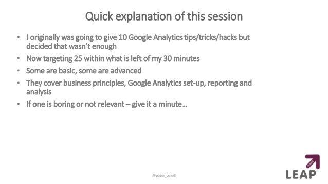 Google Analytics Crash Course Slide 3