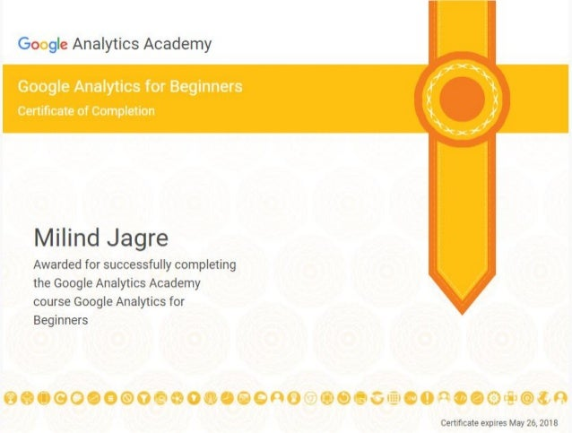 Certificate Of Completion Google Analytics For Beginners