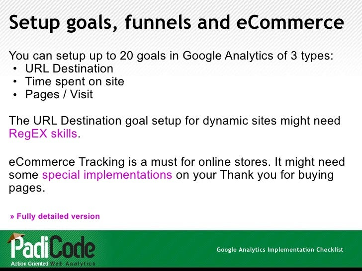 lable google analytics goals for pdf with regex