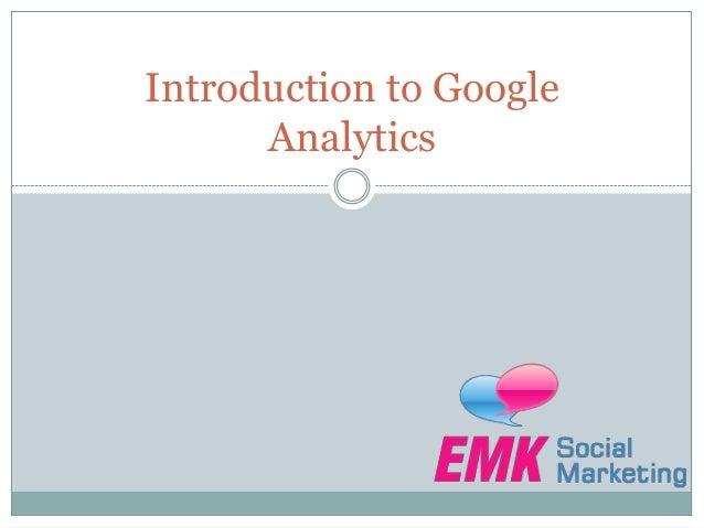 Introduction to GoogleAnalytics