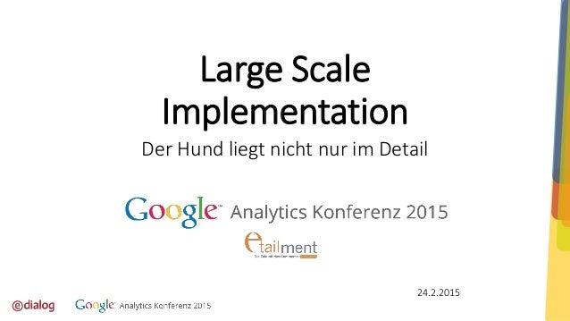 Large Scale Implementation Der Hund liegt nicht nur im Detail 24.2.2015