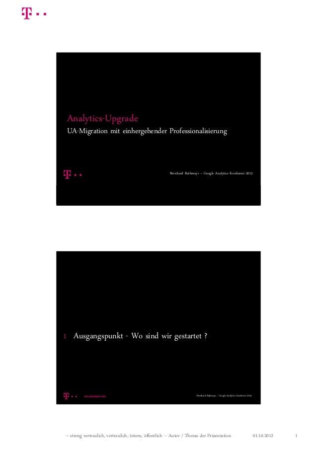 01.10.2012– streng vertraulich, vertraulich, intern, öffentlich – Autor / Thema der Präsentation 1 05.03.20 151 Analytics-...