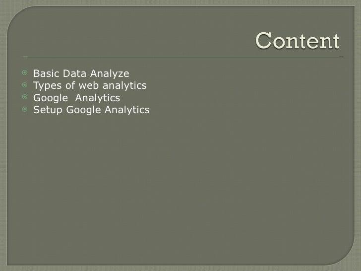 Web Analytics Basics Slide 2