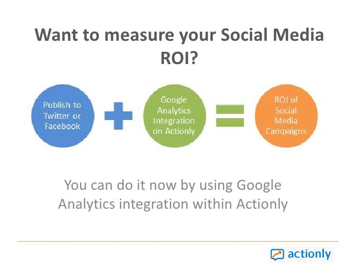 Want to measure your Social Media ROI?  You can do it now by using Google Analytics integration within Actionly