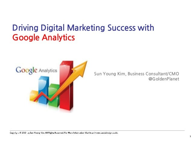 Driving Digital Marketing Success with Google Analytics Sun Young Kim, Business Consultant/CMO @GoldenPlanet