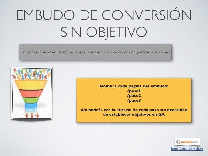 EMBUDO DE CONVERSIÓN     SIN OBJETIVO                                             Sin permisos de administrador no puedes ...