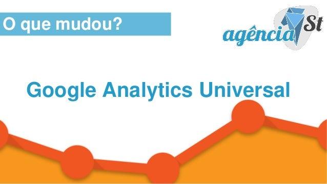 WWW.AGENCIAST.COM.BR Google Analytics Universal O que mudou?