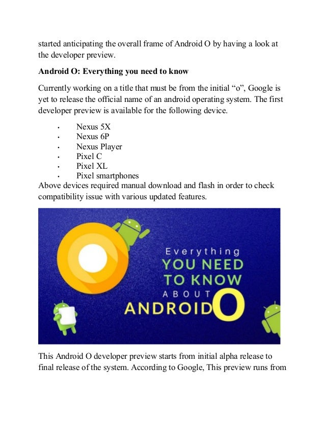 Android O to Take Precedence with Enhanced Features Slide 2