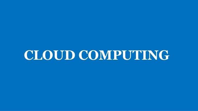 ¿Qué es el cloud computing? El cloud computing se refiere a la entrega bajo demanda de recursos informáticos y aplicacione...