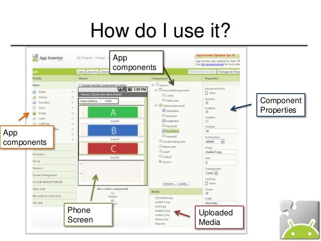 Login - Learn to build Android apps | Appinventor