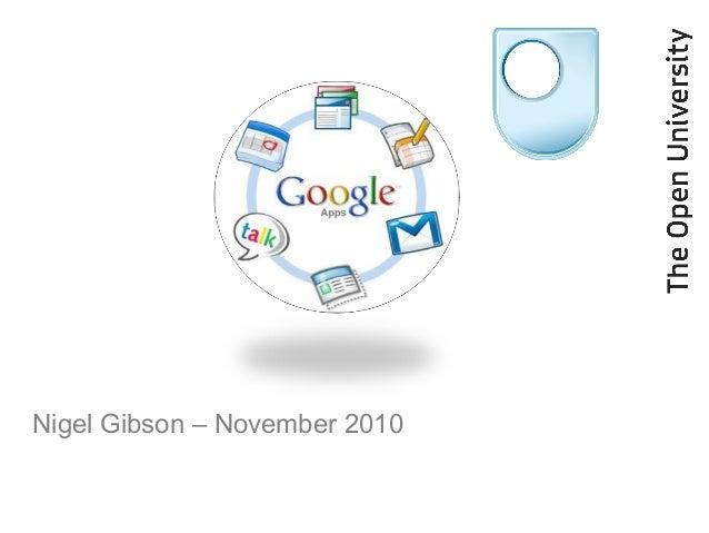Nigel Gibson – November 2010