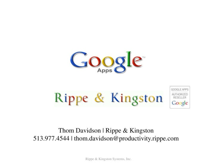 Thom Davidson | RRippe & Kingston 513.977.4544 | thom.davidso                           on@productivity.rippe.com         ...