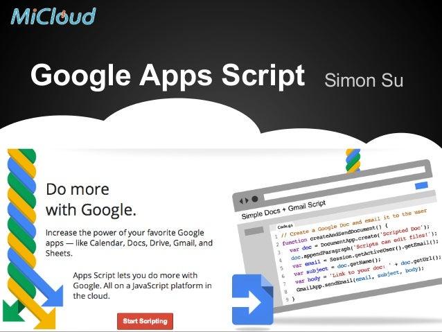 Google Apps Script  Simon Su