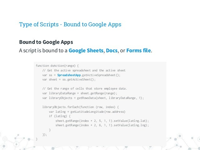 Google apps script introduction