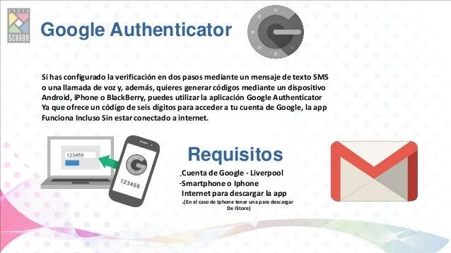 Google Authenticator Si has configurado la verificación en dos pasos mediante un mensaje de texto SMS o una llamada de voz...