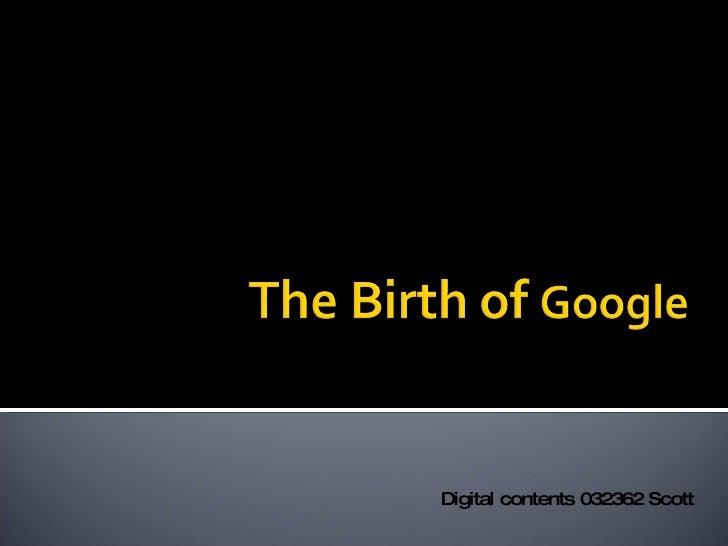 Digital contents 032362 Scott