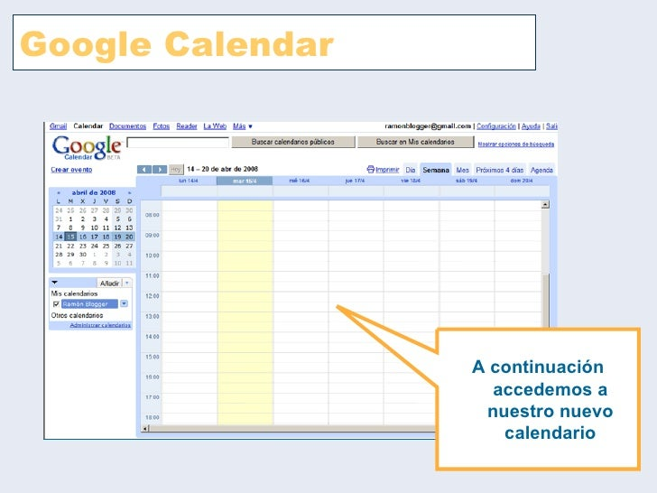 Google calendar Slide 3