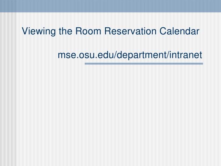 Ohio State University Room Reservation