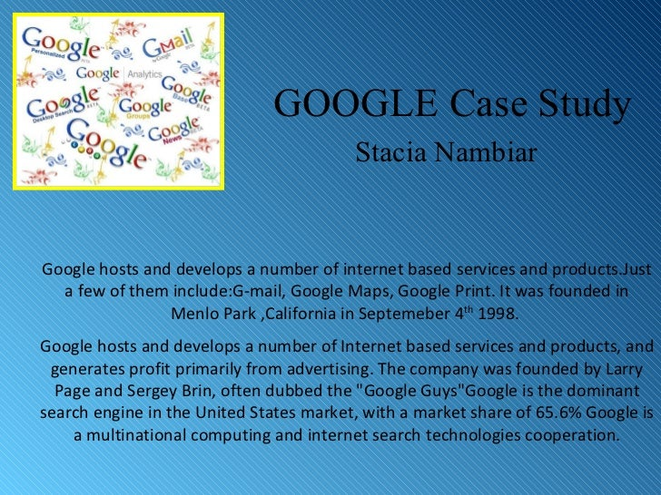 case study google china 1 Case summary google in china final - download as pdf file (pdf), text file (txt) or read online case study google in china ethical issues of google in china.