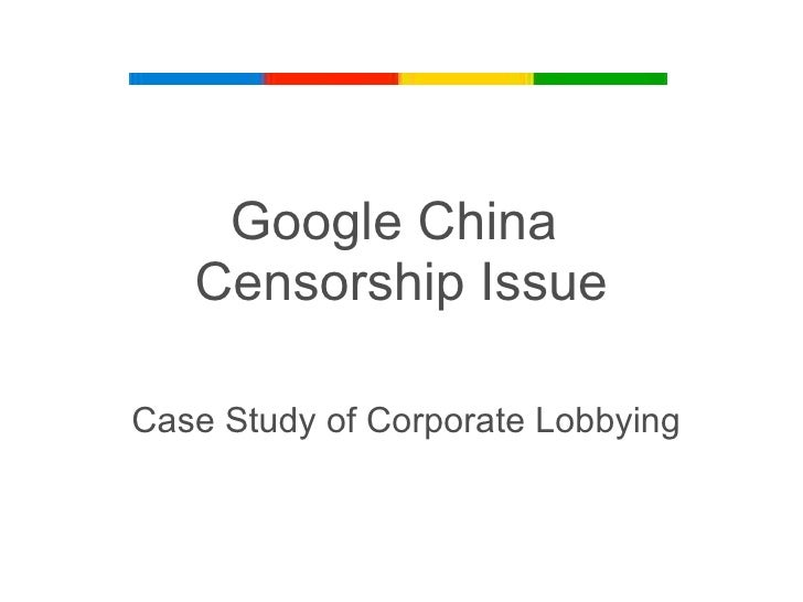 case study on google in china The google case: when law and ethics collide the recent google announcement about re-evaluating its business in china demonstrates in the case of china.