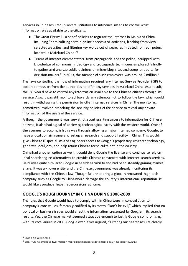 google china negotiation Google have experienced two series of negotiations with the chinese government from 2006 to 2010 the first round negotiation settled successfully when google first entered china in 2006 google established a local domain (googlecn) to better serve the mainland china internet users when it failed.
