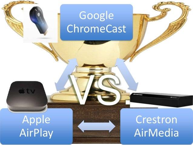 Google ChromeCast Crestron AirMedia Apple AirPlay VS.
