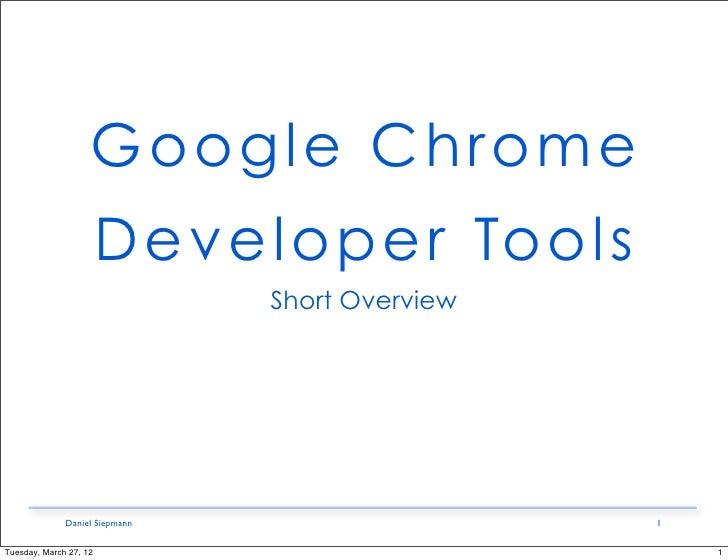 how to use google chrome developer tools