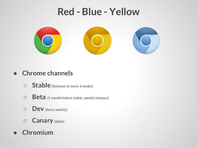Chrome canary vs beta