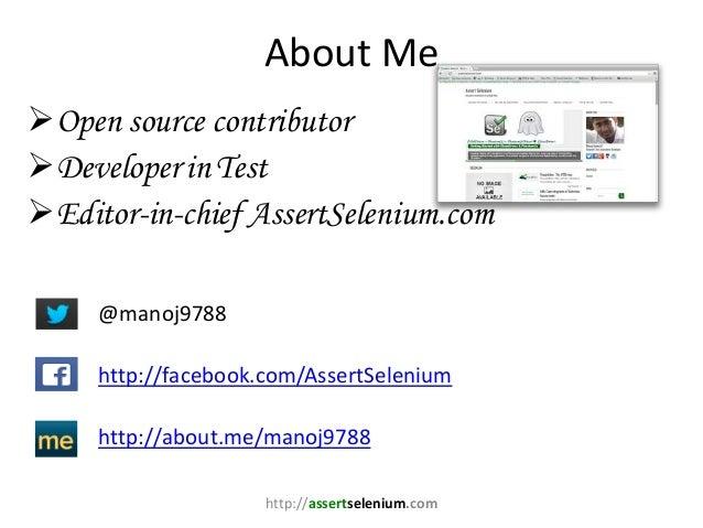 Automated Testing with Google Chrome - WebDriver- ChromeDriver Slide 2
