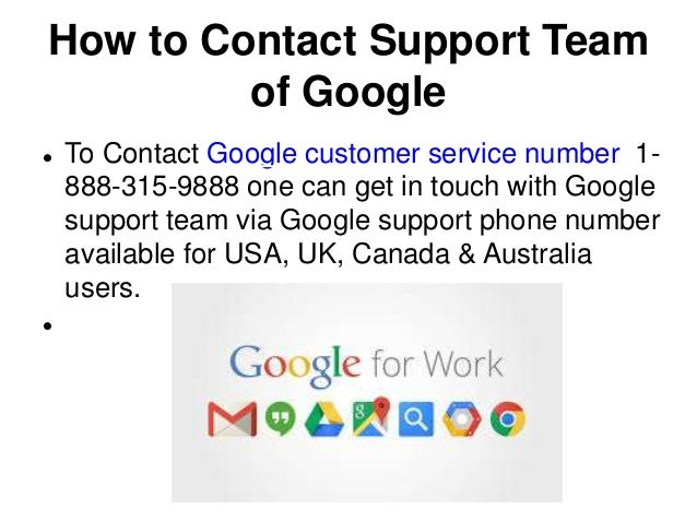Google contact number for support