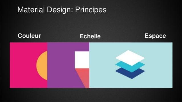 Material Design: Principes Echelle EspaceCouleur