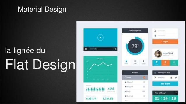 Material Design Flat Design la lignée du