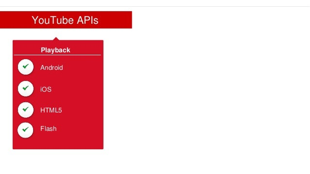 What's New with the YouTube APIs? ● Subscription Widget ● Live Streaming API ● InVideo Programming API ● Channel Branding ...