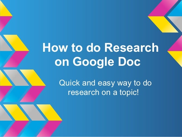 How to do Research on Google Doc  Quick and easy way to do    research on a topic!