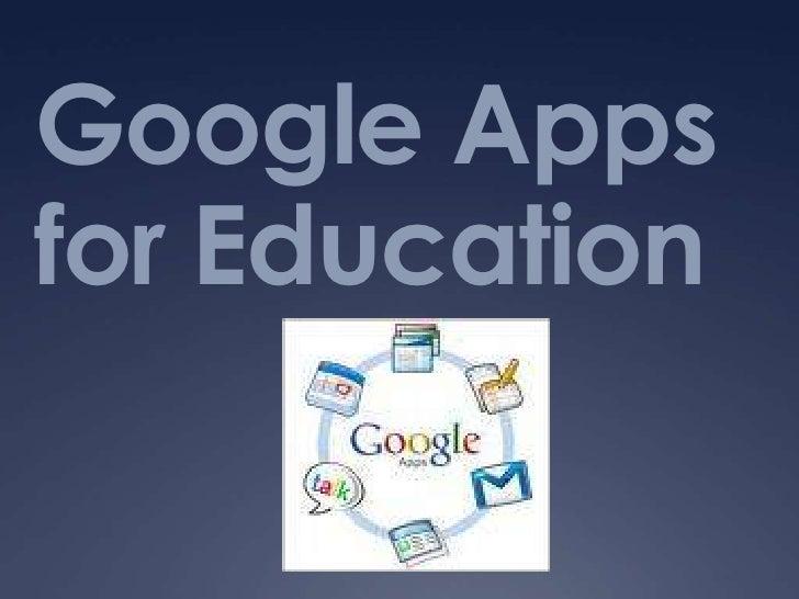 Google Apps for Education<br />