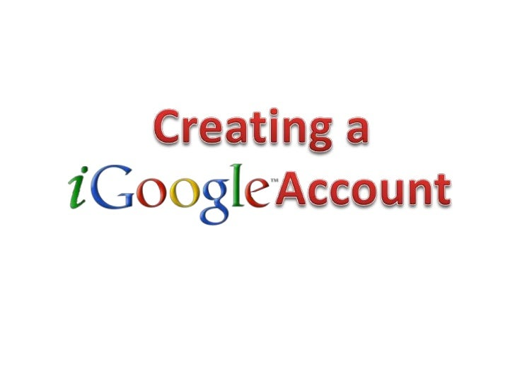 Creating a                 Account <br />