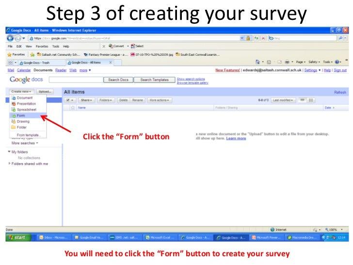 how to make survey google docs