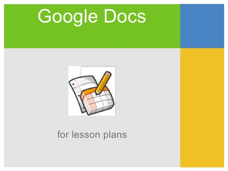 Google Docs for lesson plans