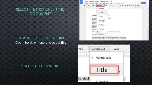 how to change formatting in google docs