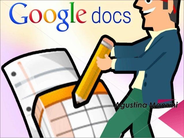  Google Docs y hojas de cálculo, es un programa gratuito basado en Web para crear documentos en línea con la posibilidad...