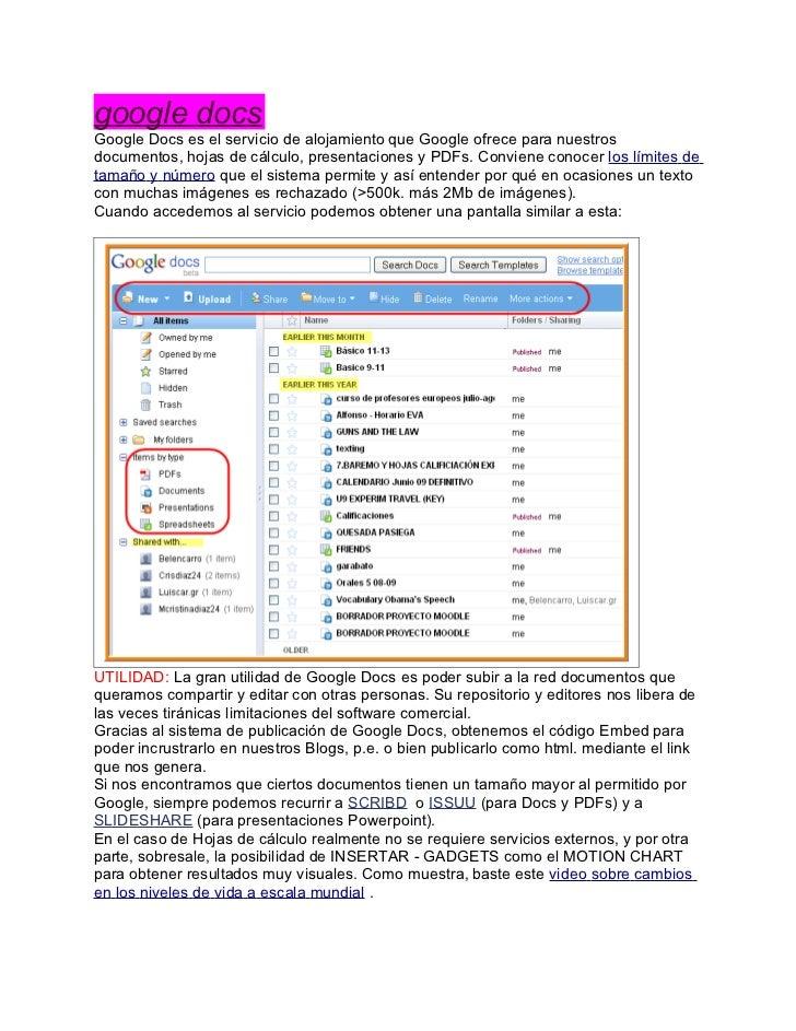 Google docs 1.