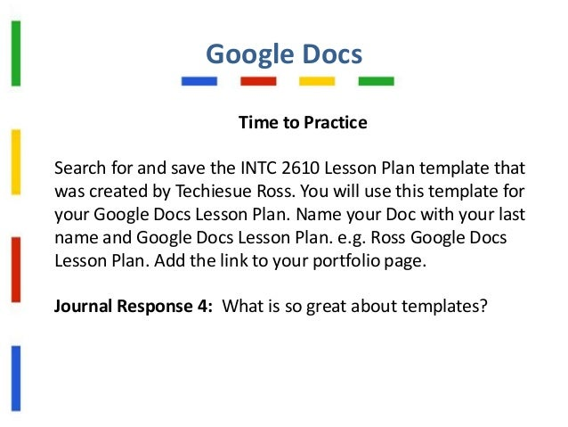 Google Docs Foreducators Intc - Google docs lesson plan template