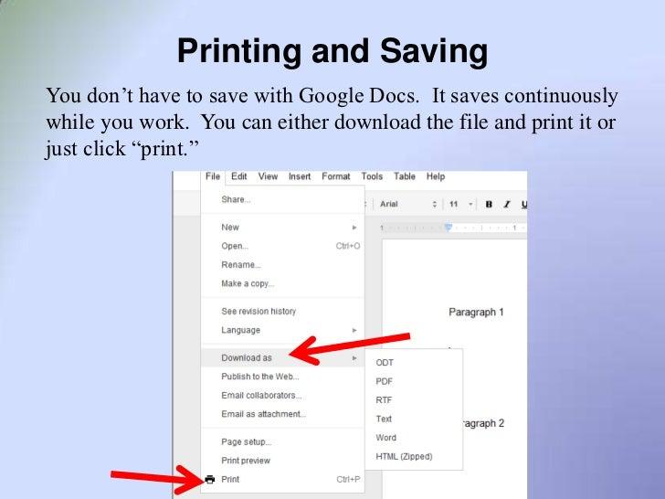 how to download google docs presentation