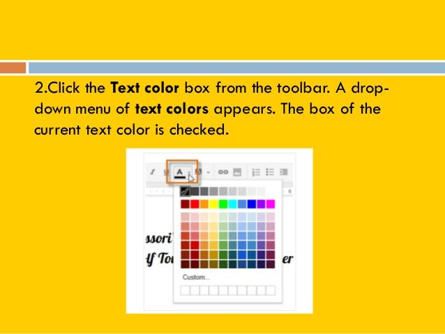Google docs tutorial for Page color google docs