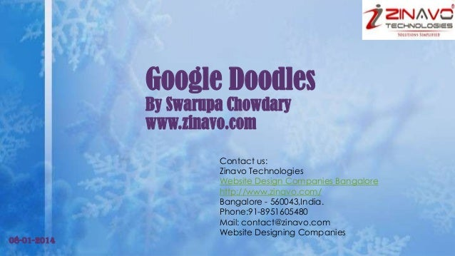 Google Doodles By Swarupa Chowdary www.zinavo.com  08-01-2014  Contact us: Zinavo Technologies Website Design Companies Ba...