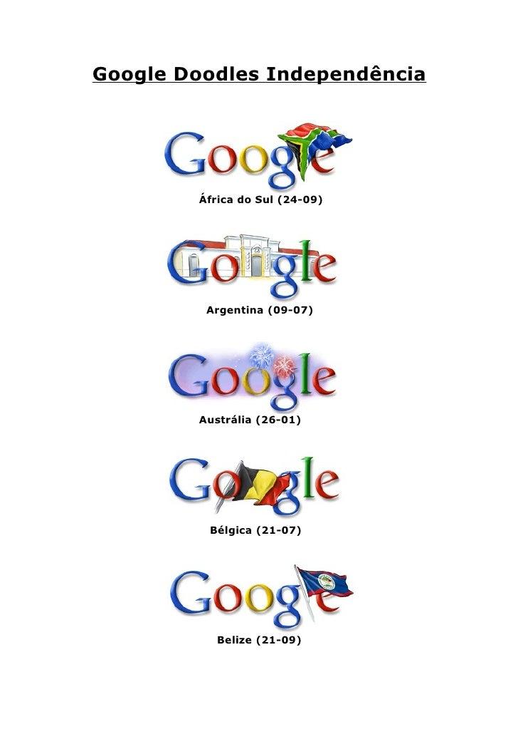 Google Doodles IndependêNcia