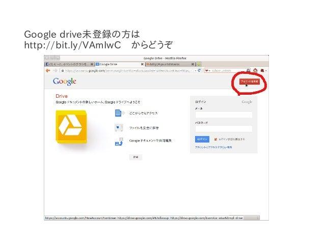 Google driveでファイルを共有する方法 Slide 2