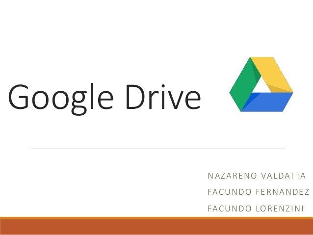 Google Drive NAZARENO VALDATTA FACUNDO FERNANDEZ FACUNDO LORENZINI